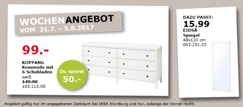 IKEA  KOPPANG Kommode mit 6 Schubladen