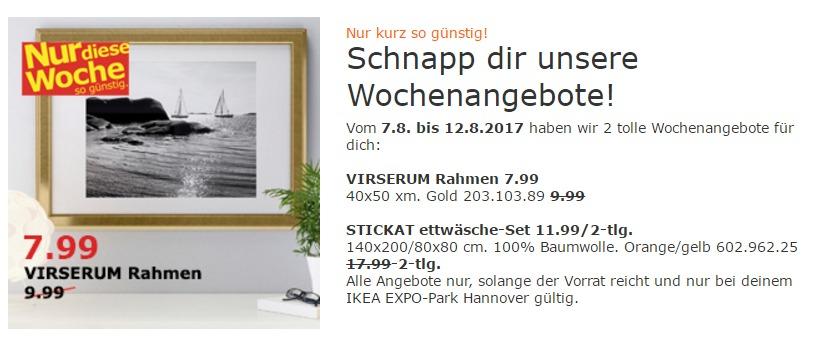 IKEA VIRSERUM Rahmen, 40x50 cm, gold