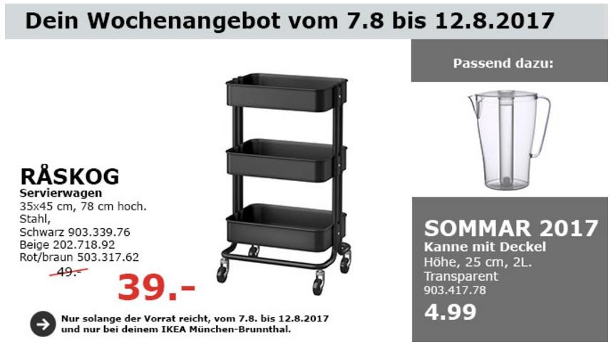 IKEA RASKOG Servierwagen, 35x45 cm, 78 cm hoch