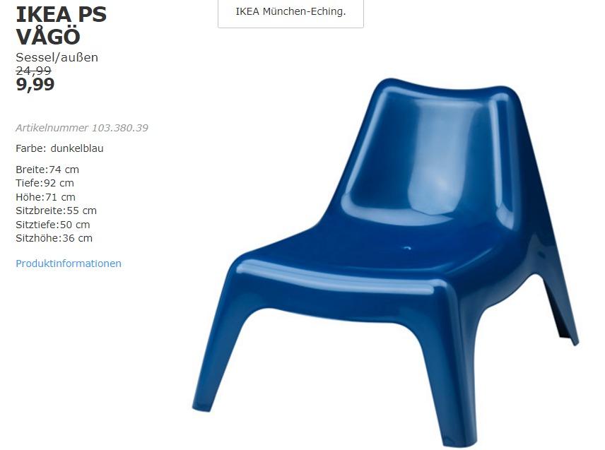 IKEA PS VAGÖ Sessel/außen