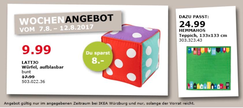 IKEA LATTJO Würfel, aufblasbar, 35x35x35 cm