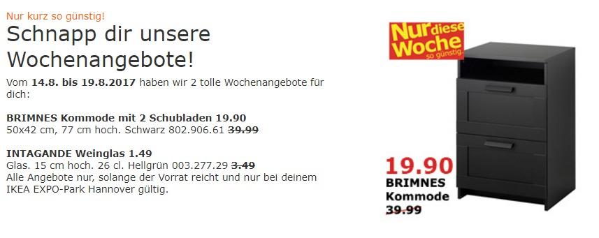 IKEA BRIMNES Kommode mit 2 Schubladen, 50x42 cm, 77 cm hoch, schwarz
