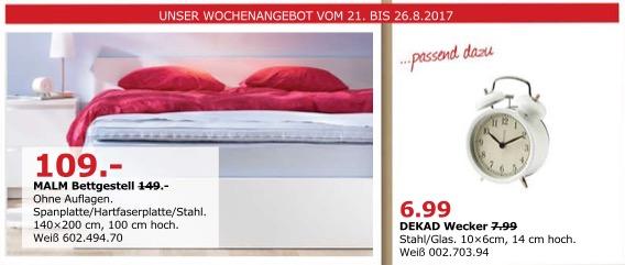 IKEA MALM Bettgestell, 140x200 cm, 100 cm hoch
