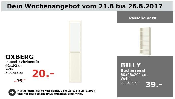 IKEA OXBERG Paneel-/Vitrinetür, 40x192 cm, weiß