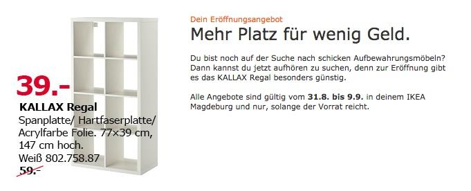 IKEA KALLAX Regal, 77x39 cm, 147 cm hoch, weiß - jetzt 34% billiger