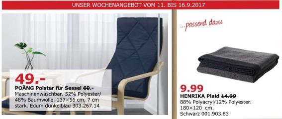 IKEA POÄNG Polster für Sessel