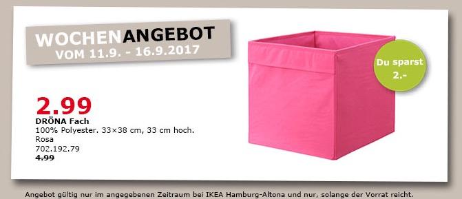IKEA DRÖNA Fach, 33x38 cm, 33 cm hoch, rosa