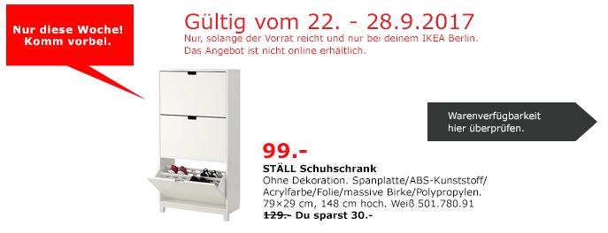 IKEA STÄLL Schuhschrank, 79x29 cm, 148 cm hoch, weiß