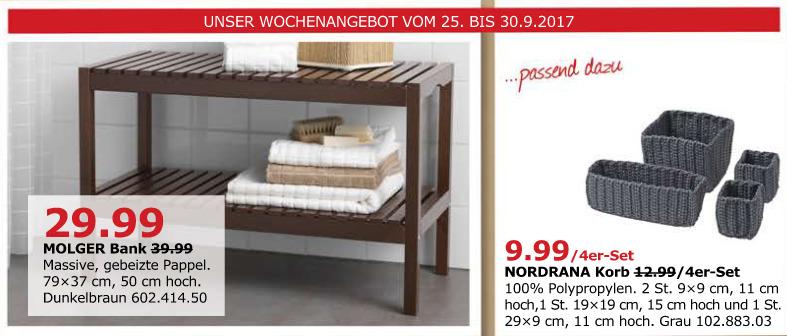IKEA MOLGER Bank, 79x37 cm, 50 cm hoch, dunkelbraun