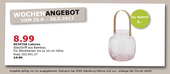 IKEA BESPISA Laterne, rosa