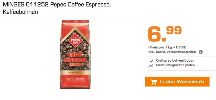 MINGES 611252 Pepes Caffee Espresso, Kaffeebohnen