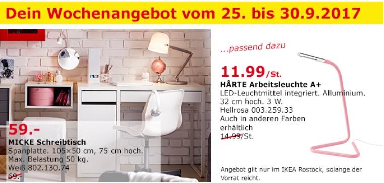 IKEA MICKE Schreibtisch, 105x50 cm, 75 cm hoch, weiß - jetzt 14% billiger