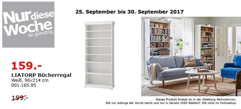 IKEA LIATORP Bücherregal, 96x214 cm, weiß