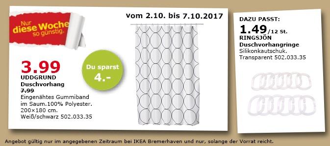 IKEA UDDGRUND Duschvorhang, 200x180 cm