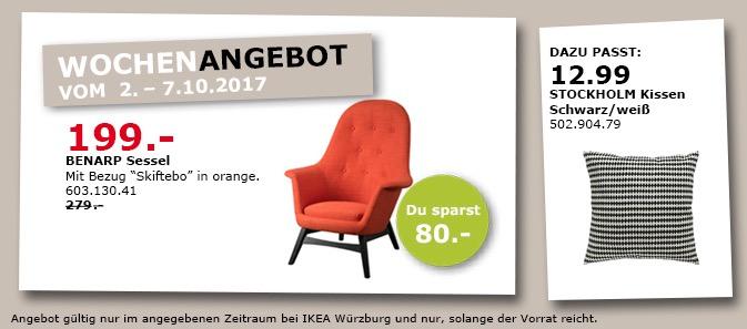IKEA BENARP Sessel, orange