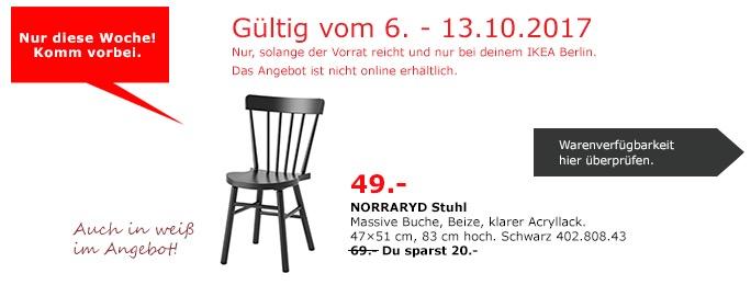 IKEA NORRARYD Stuhl, massive Buche