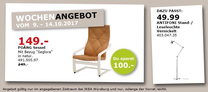 """IKEA POÄNG Sessel, Bezug """"Seglora"""""""