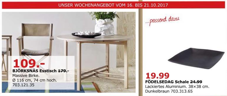 IKEA BJÖRKSNÄS Esstisch, 116 cm