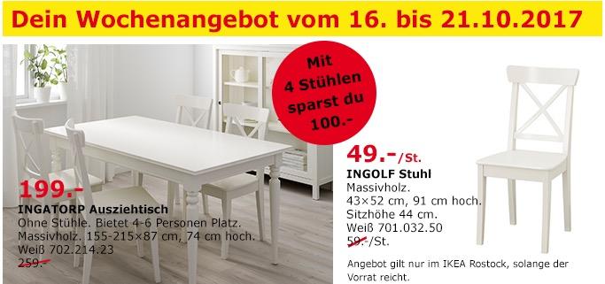 IKEA INGATORP Ausziehtisch, 155-215x87 cm, 74 cm hoch, weiß - jetzt 23% billiger