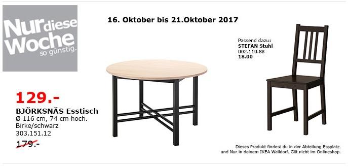 IKEA BJÖRKSNÄS Esstisch