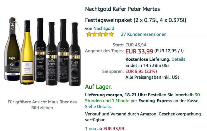 Nachtgold Käfer Peter Mertes Festtagsweinpaket (2 x 0.75l, 4 x 0.375l)