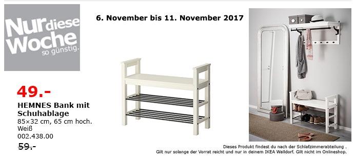 IKEA HEMNES Bank mit Schuhablage