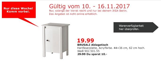 IKEA BRUSALI Ablagetisch