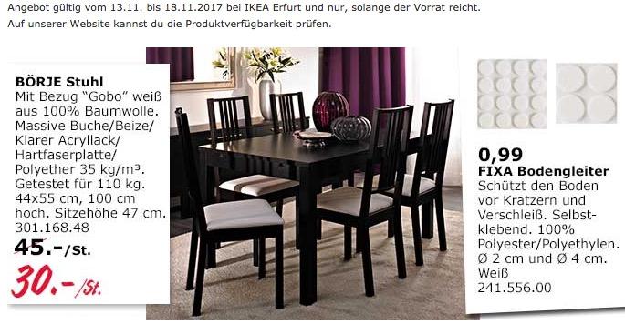 IKEA BÖRJE Stuhl - jetzt 33% billiger