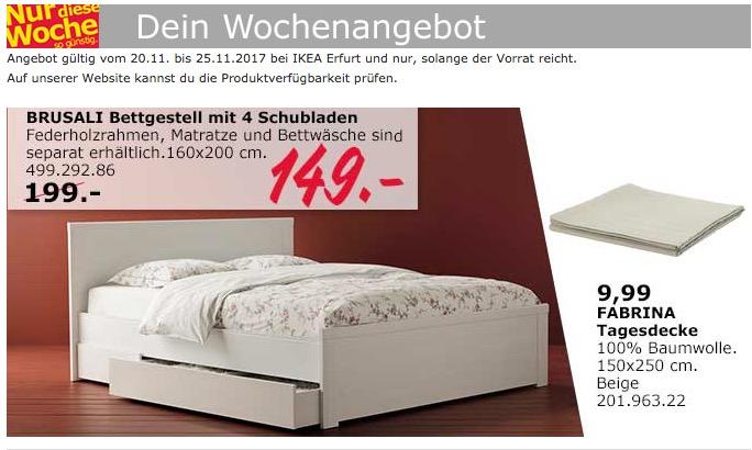 IKEA BRUSALI Bettgestell mit 4 Schubladen - jetzt 25% billiger