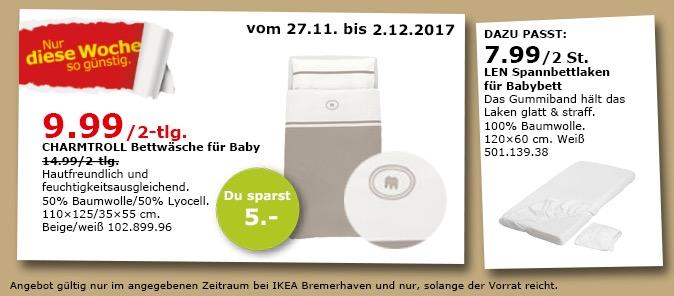 IKEA CHARMTROLL Bettwäsche für Baby