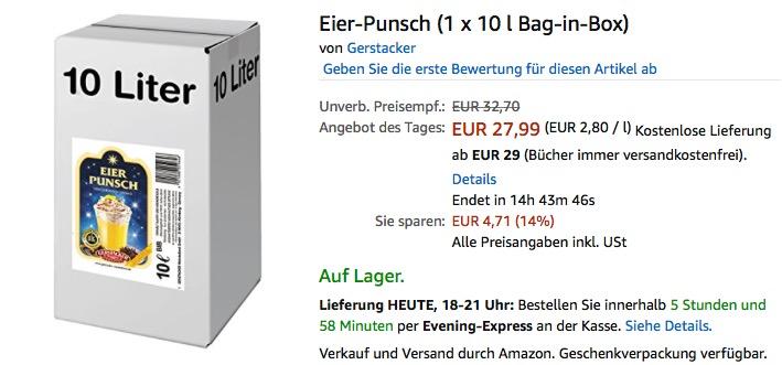 Gerstacker Eier-Punsch 10 Liter