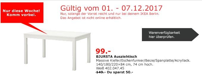 IKEA BJURSTA Ausziehtisch