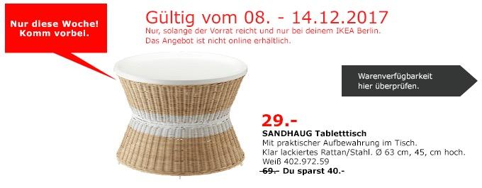 IKEA SANDHAUG Tabletttisch