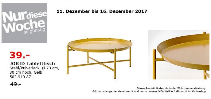 IKEA JORID Tabletttisch