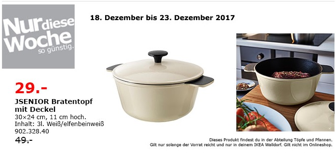 IKEA JSENIOR Bratentopf