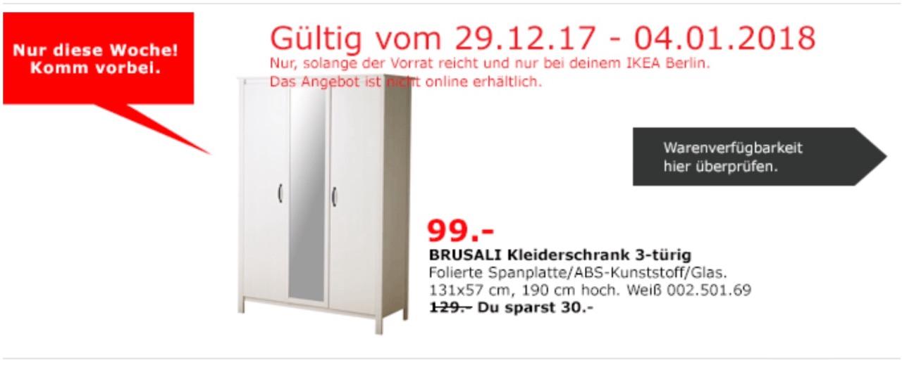 IKEA BRUSALI Kleiderschrank