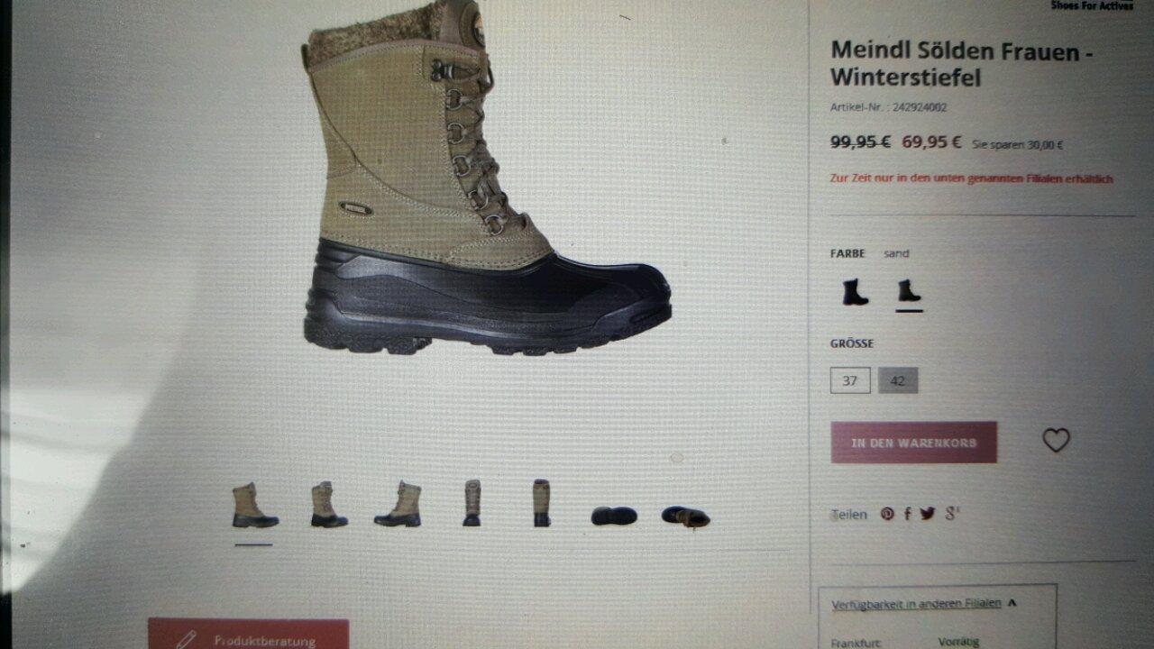 Meindl Sölden Frauen Winterstiefel - jetzt 30% billiger