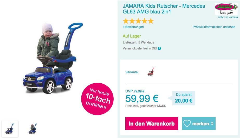 JAMARA Kids Rutscher - Mercedes GL63 AMG blau
