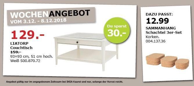 IKEA Kaarst - LIATORP Couchtisch