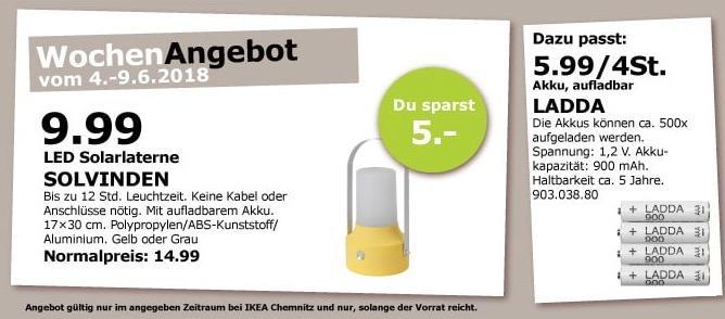 IKEA SOLVINDEN Solarlaterne
