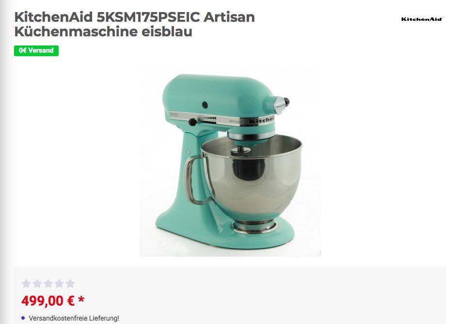 KitchenAid 5KSM175PSEIC Artisan Küchenmaschine In Eisblau