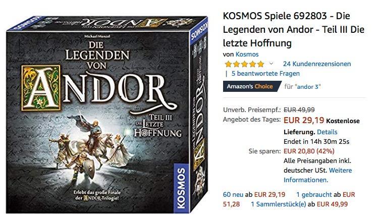 KOSMOS Spiele 692803 - Die Legenden von Andor - Teil III Die letzte Hoffnung