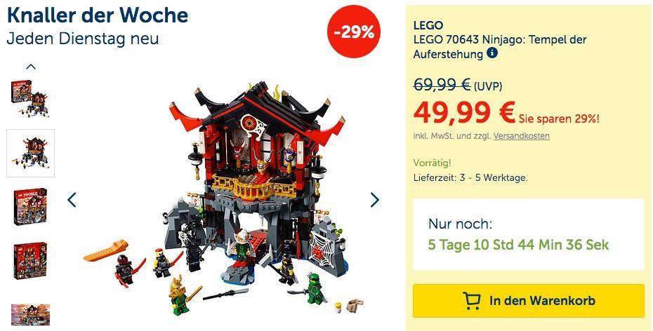 LEGO 70643 Ninjago: Tempel der Auferstehung
