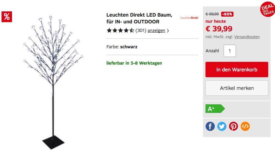 Leuchten Direkt LED Baum 150 cm - jetzt 23% billiger