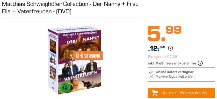 Matthias Schweighöfer Collection - Der Nanny + Frau Ella + Vaterfreuden - (DVD)