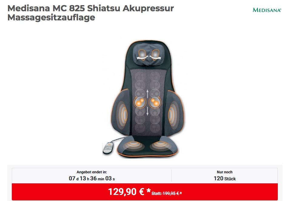 Medisana MC 825 Shiatsu Akupressur Massagesitzauflage