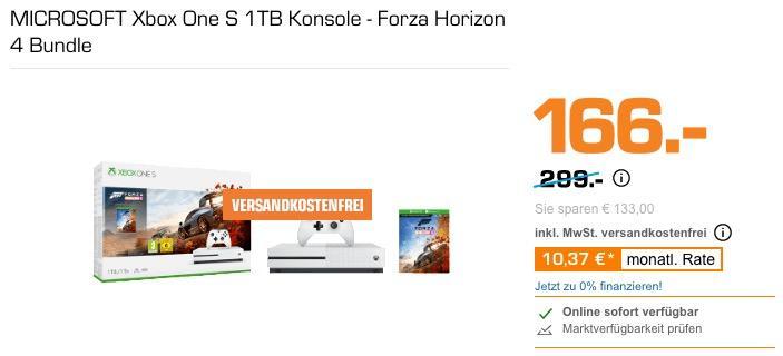 MICROSOFT Xbox One S 1TB Konsole - Forza Horizon 4 Bundle - jetzt 11% billiger