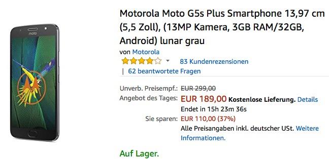 Motorola Moto G5s Plus Smartphone