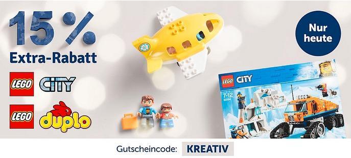 myToys - 15 % Rabatt auf LEGO DUPLO und LEGO City: z.B. LEGO 10869 DUPLO: Ausflug auf den Bauernhof
