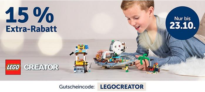 myToys.de 15% Extra-Rabat auf Artikel der Marke LEGO Creator: z.B. LEGO 10254 Creator: Festlicher Weihnachtszug